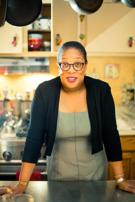 San Francisco event planner Professional headshot boston woman in her kitchen
