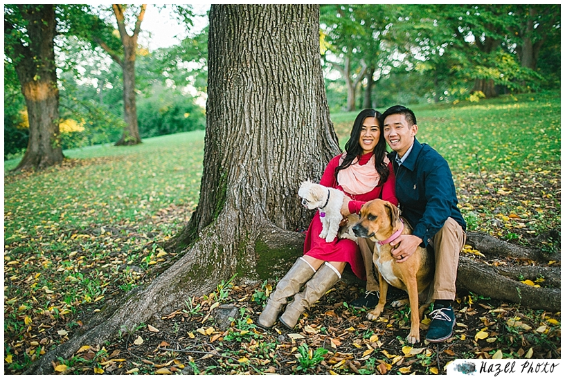 Engagement Photos Dogs Boston Arnold Arboretum