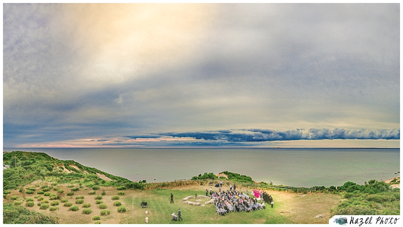 aquinnah lighthouse Marthas Vineyard Wedding Hazelphoto
