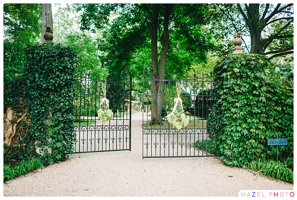 Bay area garden wedding at the gate