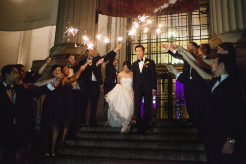 Chinese Wedding San FRancisco Sparkler Send off