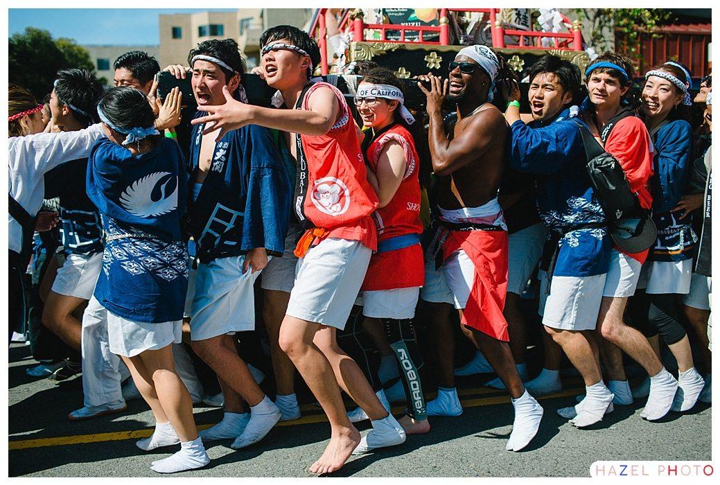Mikoshi Japanese San Francisco. Japantown Cherry Blossom Festival.