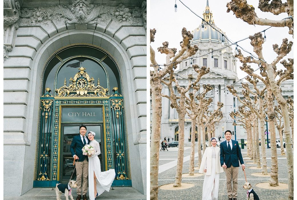 San Francisco City Hall documentary wedding photographer