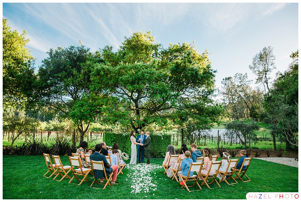 St. Helena Wedding Napa Valley intimate wedding