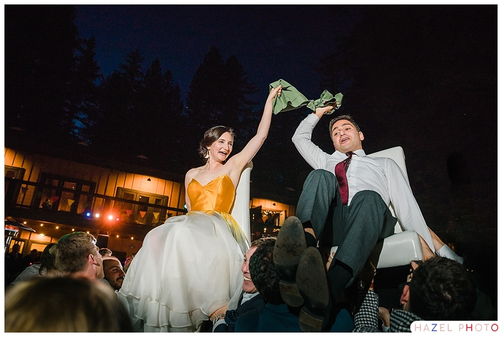 Dancing the hora. Burning Man Meets Jewish Summer Camp Wedding