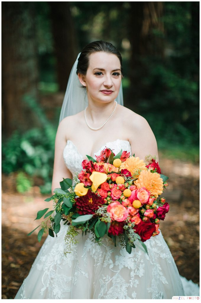 Bridal portrait Sigmund Stern Grove San Francisco