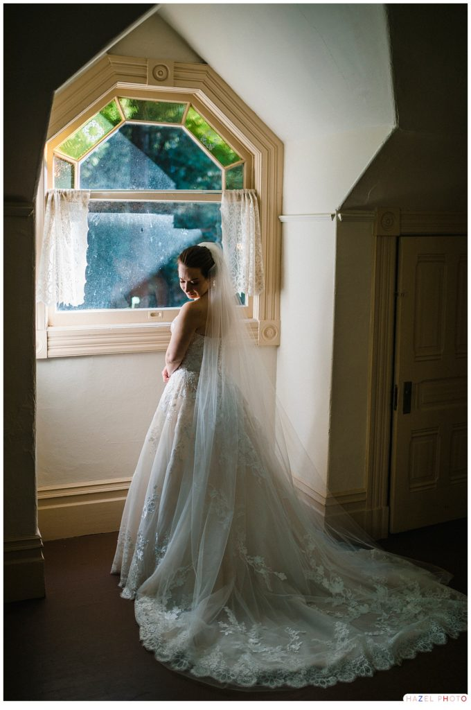 Bridal portrait in the Trocadero Clubhouse at Stern Grove San Francisco
