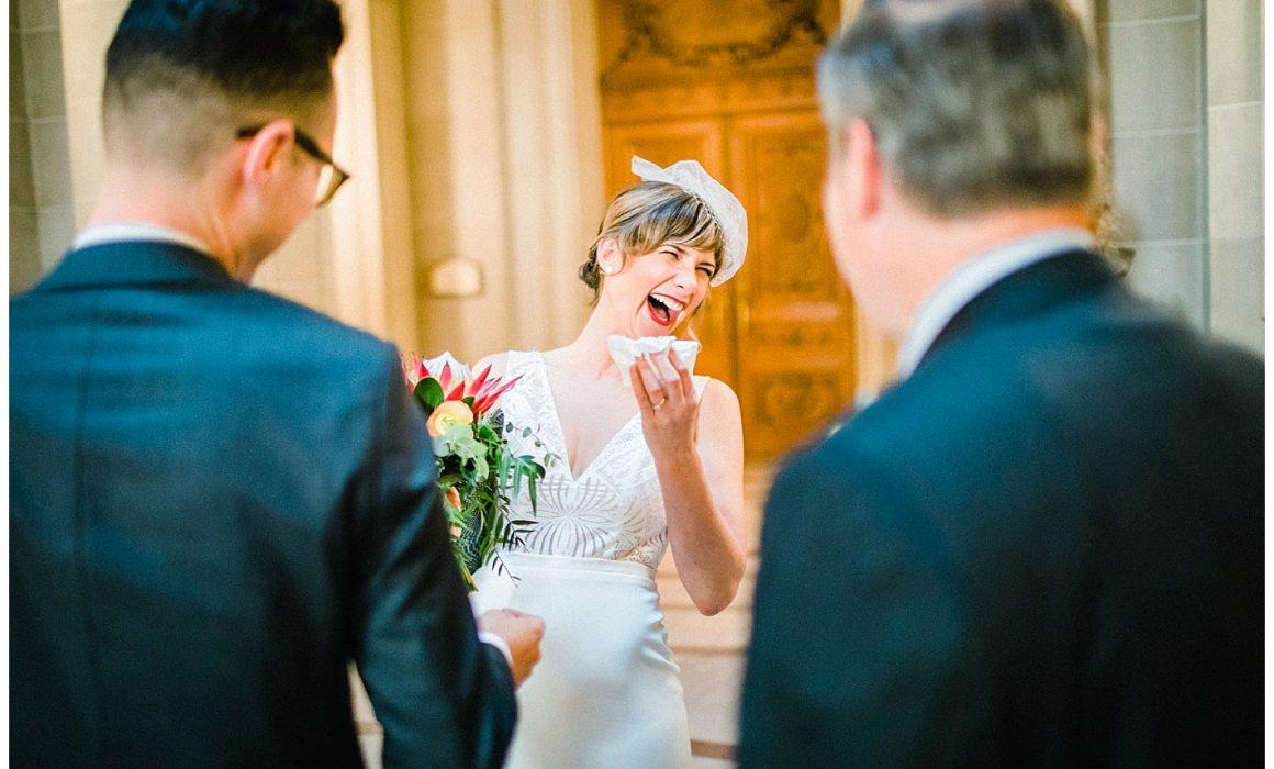 Documentary Style Wedding Photography San Francisco City Hall